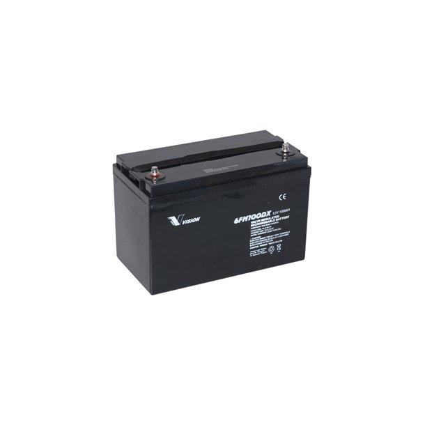 100Ah lukket forbrugsbatteri