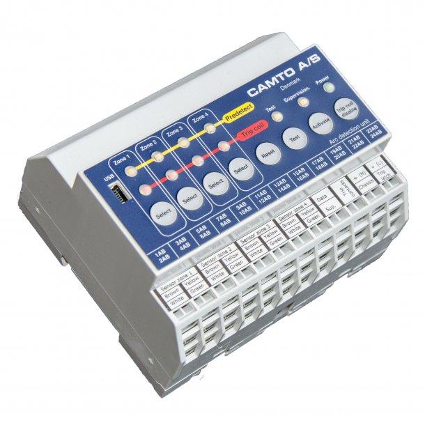 Kontrol enhed for lysbue sensor for 230Vac forsyning